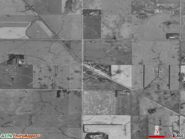 Ayr satellite photo by USGS