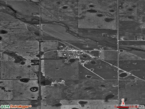 Deering satellite photo bydeering city