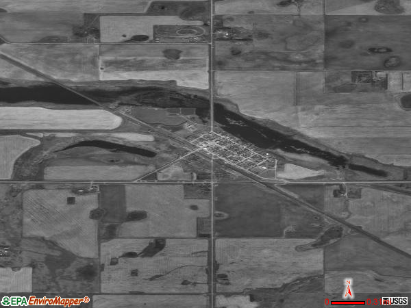 Flaxton satellite photo by USGS