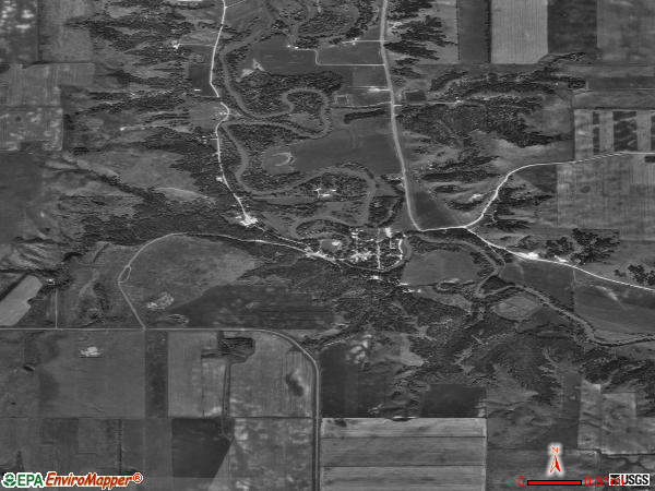 Fort Ransom satellite photo by USGS