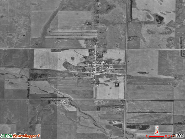 Fullerton satellite photo by USGS 