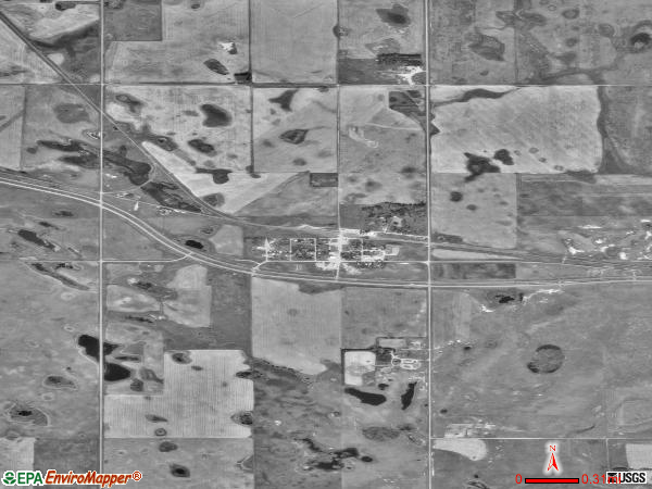 York satellite photo by USGS 