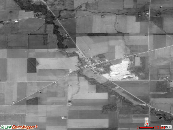 West Millgrove satellite photo by USGS 