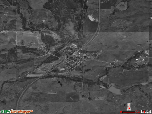 Addington satellite photo by USGS