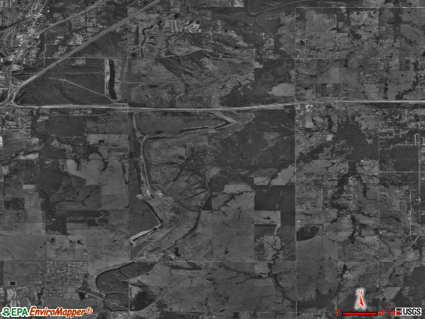 Fair Oaks satellite photo by USGS