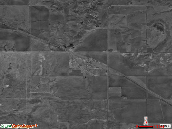 Knowles satellite photo by USGS