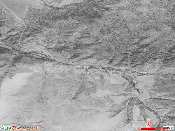 Mitchell satellite photo by USGS