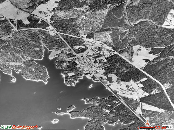 Parksville satellite photo by USGS