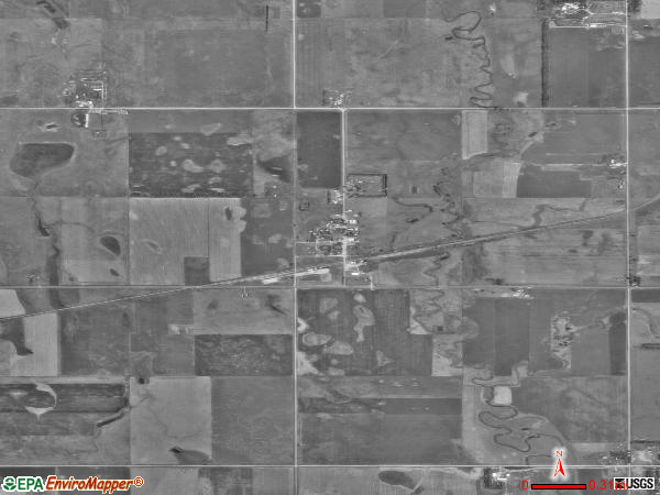 Bancroft satellite photo by USGS