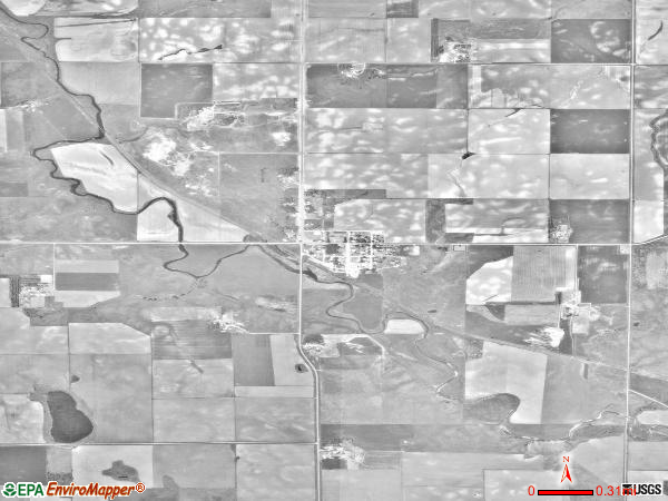 Dante satellite photo by USGS 