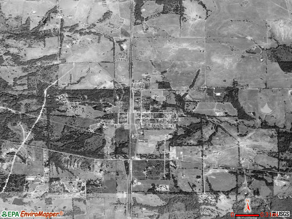 Kirvin satellite photo by USGS