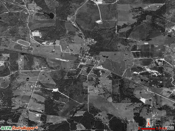 Millican satellite photo by USGS