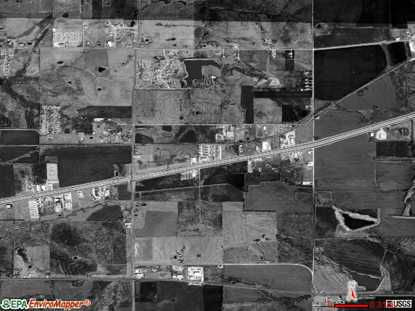 Mobile City satellite photo by USGS 
