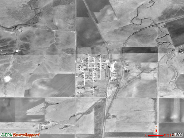 Morse satellite photo by USGS