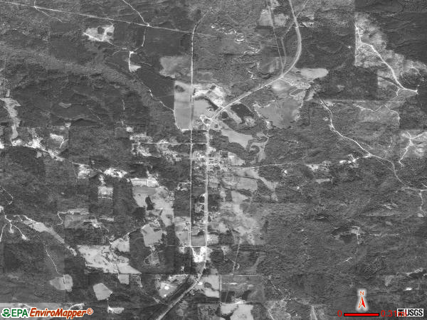 Toxey satellite photo by USGStoxey town