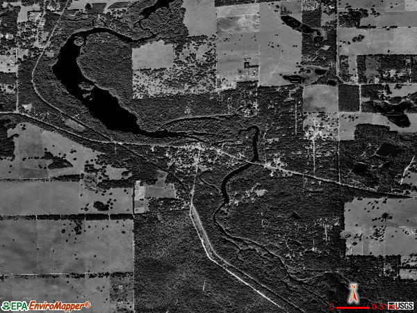 Nobleton satellite photo by USGS