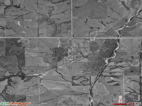 Benton satellite photo by USGS