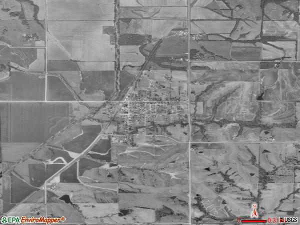 Blockton satellite photo by USGS 