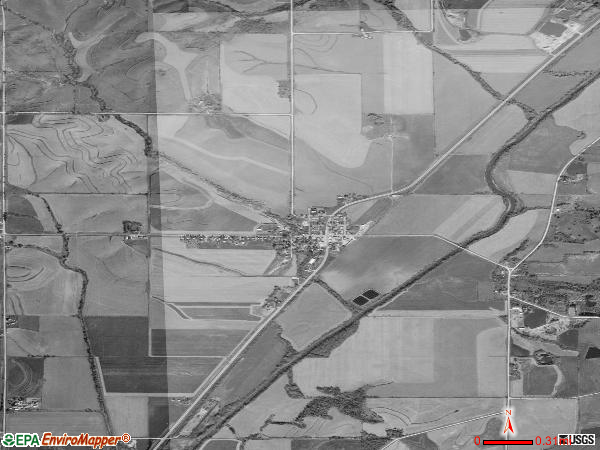 Brayton satellite photo by USGS