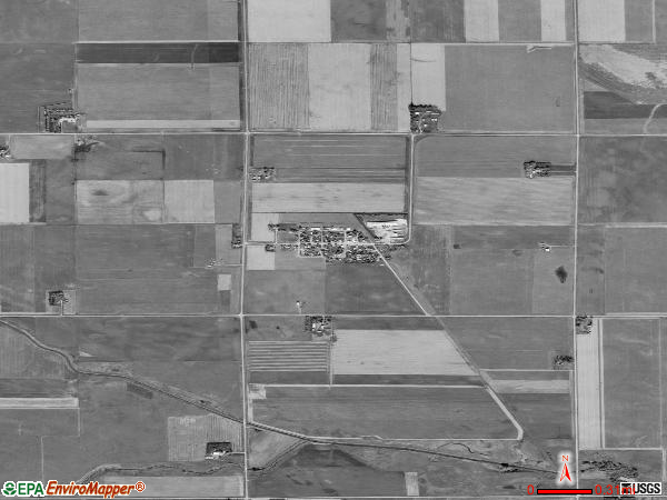 Dolliver satellite photo by USGS