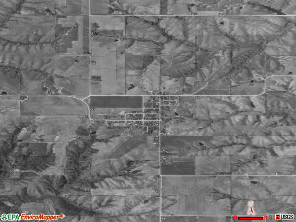 Exline satellite photo by USGS 