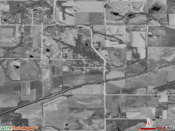 Spring Hill Iowa IA Profile Population Maps Real - Aerial map spring hill road and us hwy 19 1990