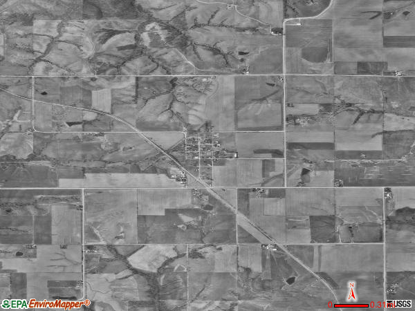 Udell satellite photo by USGSudell city