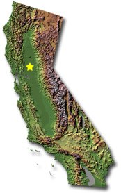 California Smaller Cities Towns And Villages Between And - Map of california cities and towns
