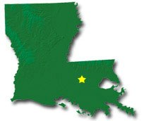 Louisiana Smaller Cities Towns And Villages Between And - Louisiana map of cities and towns