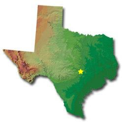Texas Smaller Cities Towns And Villages Between And - Texas maps cities